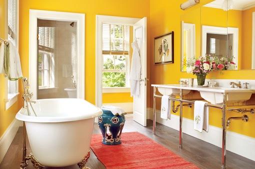 Thích thú với những mẫu phòng tắm ngập sắc màu