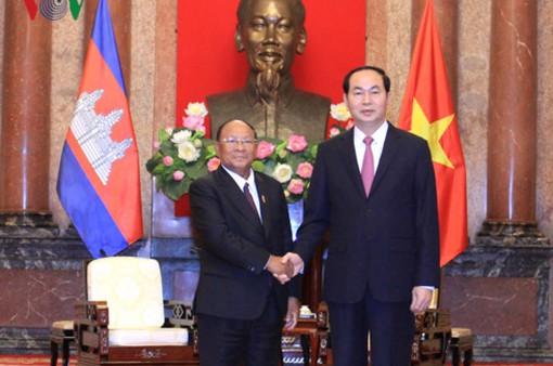Chủ tịch nước tiếp Chủ tịch Quốc hội Campuchia