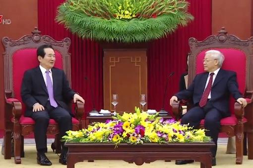 Tổng Bí thư tiếp Chủ tịch Quốc hội Hàn Quốc