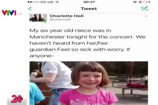Mạng xã hội Anh tràn ngập thông báo tìm người thân sau vụ đánh bom