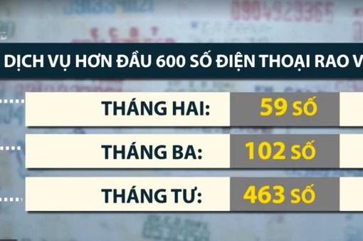 Hà Nội đã cắt dịch vụ hơn đầu 600 số điện thoại rao vặt