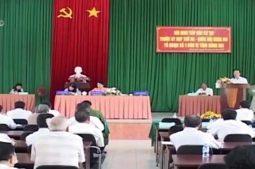 Đồng chí Võ Văn Thưởng tiếp xúc cử tri trước kỳ họp Quốc hội