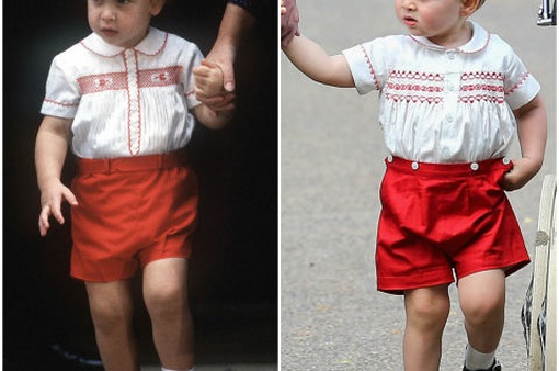 10 khoảnh khắc hoàng tử bé giống hệt các thành viên trong hoàng gia Anh