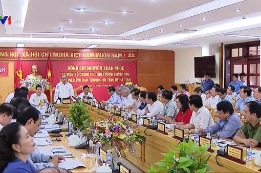 Thủ tướng đề nghị Hà Tĩnh lấy Khu công nghiệp Vũng Áng là trọng điểm