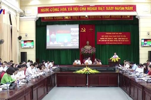 """Hà Nội giao ban trực tuyến: """"Nóng"""" vấn đề cấp sổ đỏ và trật tự đô thị"""