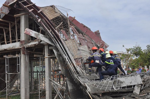 Tây Ninh: Sập công trình xây dựng, 7 công nhân bị thương