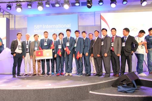 ĐT Toán Việt Nam giành giải cao nhất lịch sử dự Olympic quốc tế