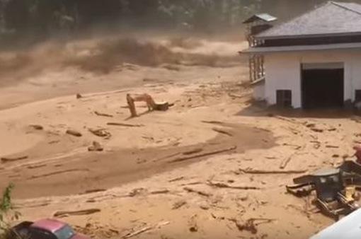 Vỡ đập nước đang xây dựng tại Lào