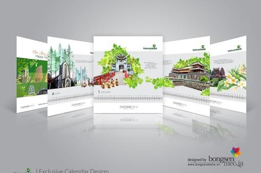 Dấu ấn tinh hoa văn hóa Việt trong thiết kế lịch