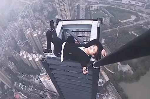 Lo ngại về trào lưu leo mái nhà mạo hiểm tại Trung Quốc