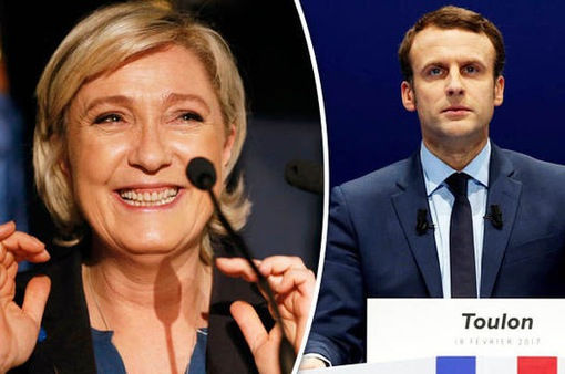 Ông Macron và bà Le Pen dẫn đầu vòng 1 bầu cử Tổng thống Pháp