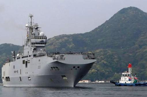 Tàu đổ bộ lớp Mistral của Pháp đến Nhật Bản