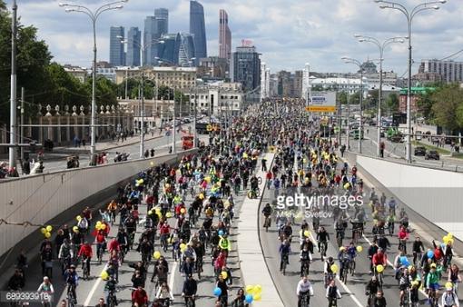 40.000 người tham gia diễu hành bằng xe đạp tại Moscow (Nga)
