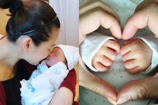"""Con trai mới sinh của Hồ Hạnh Nhi đã """"lên sóng""""!"""