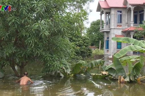 5 ngày sau vỡ đê, người dân Chương Mỹ vẫn bơi trong nước lũ