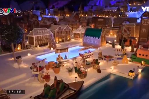 2000 ngôi nhà tí hon làm từ những chiếc bánh gừng thơm ngon mừng Giáng sinh