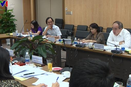 Đoàn công tác của Bộ Chính trị làm việc với VTV