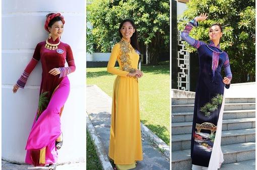 Dàn thí sinh Hoa hậu Hữu nghị ASEAN duyên dáng với áo dài thướt tha