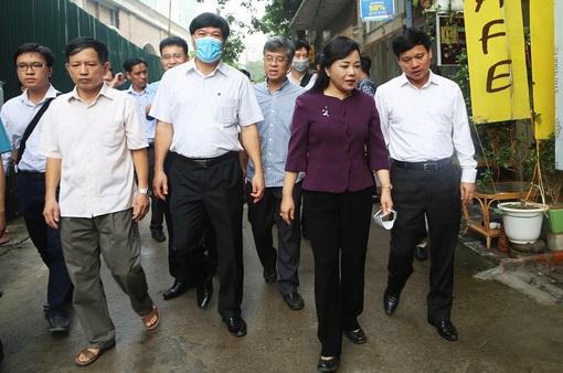 Bộ trưởng Bộ Y tế kiểm tra công tác phòng, chống dịch sốt xuất huyết tại Hà Nội