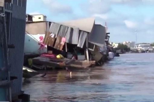 Hơn 37km đường bờ sông ở Cà Mau có nguy cơ sạt lở