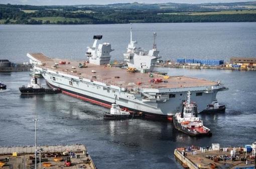Anh ra mắt tàu chiến lớn nhất HMS Queen Elizabeth