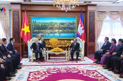 Tổng Bí thư hội kiến Chủ tịch Quốc hội Campuchia