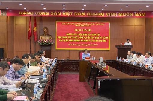 Công bố kết quả kiểm tra phòng chống tham nhũng tại Nam Định, Thái Bình, Lào Cai, Yên Bái