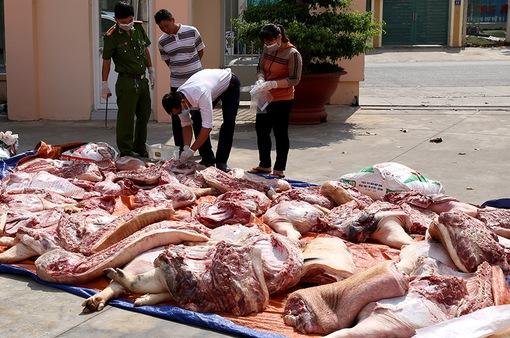 Bình Thuận phát hiện 700 kg thịt thối
