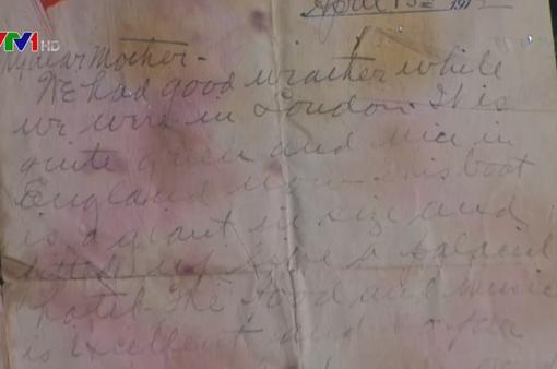 Bức thư của nạn nhân tàu Titanic được bán với giá kỷ lục