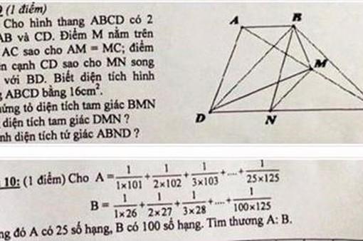 Yêu cầu kiểm điểm việc ra đề thi Toán lớp 5 quá khó