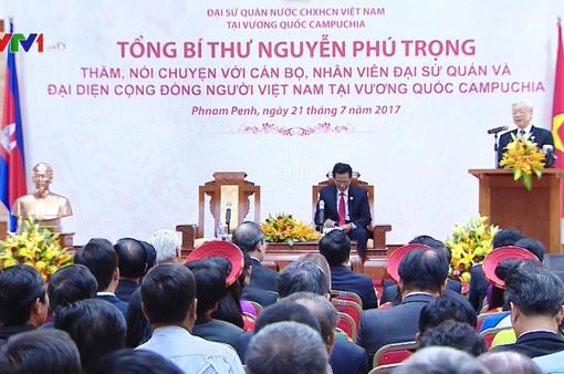 Tổng Bí thư biểu dương tinh thần đoàn kết của cộng đồng người Việt tại Campuchia