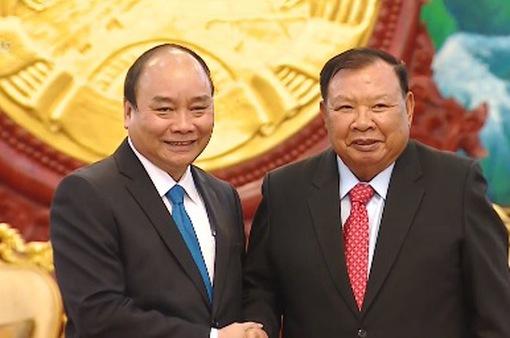 Thủ tướng hội kiến Tổng Bí thư, Chủ tịch nước Lào