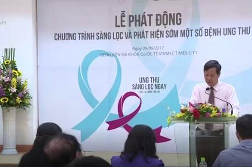 Hàng nghìn người sẽ được khám sàng lọc ung thư miễn phí