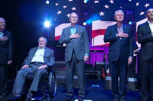 5 cựu Tổng thống Mỹ ủng hộ nạn nhân bão