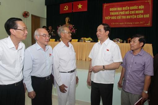 Chủ tịch nước tiếp xúc cử tri huyện Cần Giờ, TP.HCM