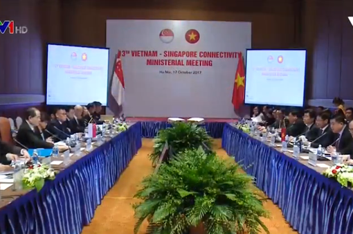 Việt Nam - Singapore tăng cường hợp tác trên nhiều lĩnh vực