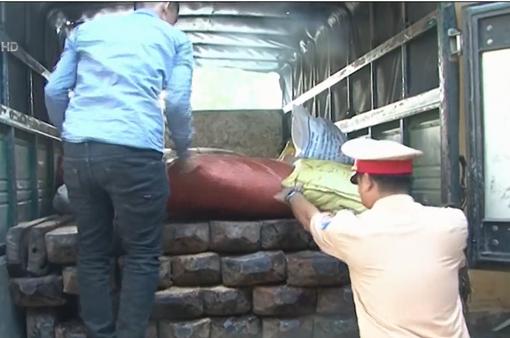 Tạm giữ tang vật vụ vận chuyển gỗ quý hiếm trái phép