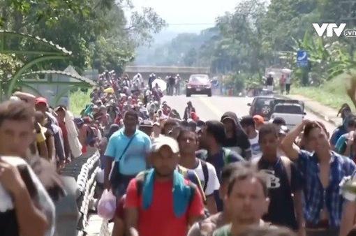 Dòng người di cư Honduras tiếp tục đổ về Mexico