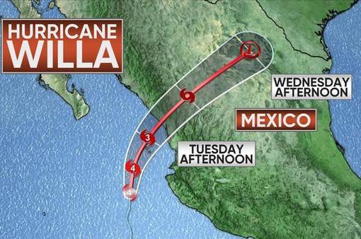Người dân Mexco ráo riết phòng chống bão Willa