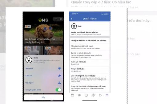 Ứng dụng OMG có nguy hại tới tài khoản Facebook?