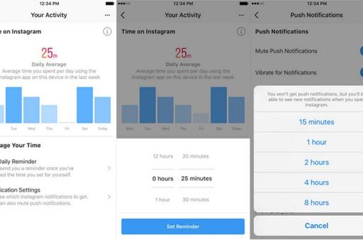 Instagram cập nhật công cụ đo thời gian dùng ứng dụng