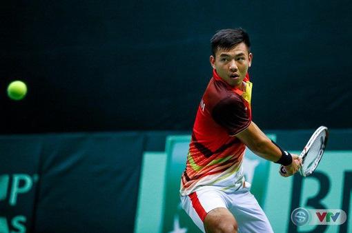 Tay vợt Lý Hoàng Nam tham dự môn quần vợt Đại hội thể thao toàn quốc 2018