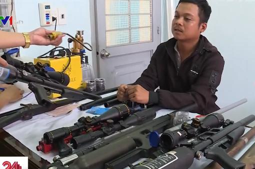 Thu giữ hàng loạt súng tự chế, đạn, máy móc chế tạo súng tại Đăk Lăk