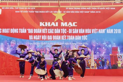 """Khai mạc Tuần """"Đại đoàn kết các dân tộc - Di sản văn hóa Việt Nam"""" năm 2018"""