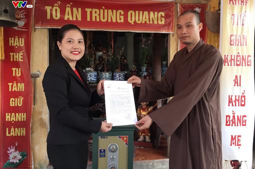 Trụ trì chùa Động Tiên ủng hộ 70 triệu đồng cho chương trình Trái tim cho em