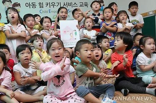 Trường mẫu giáo tại Hàn Quốc được dạy thêm tiếng Anh sau giờ học