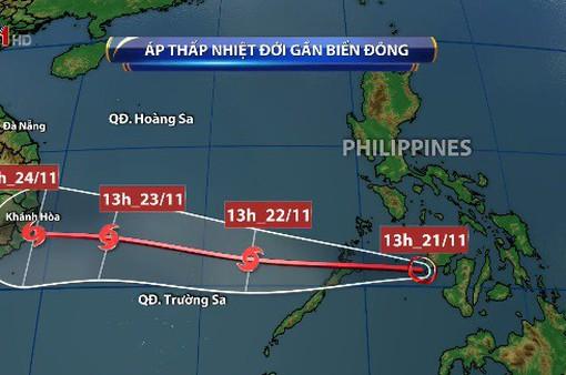 Áp thấp nhiệt đới sẽ đi vào Biển Đông và có khả năng mạnh lên thành bão