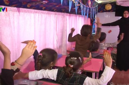 Xe bus hy vọng - mang cơ hội học tập đến với trẻ em Iraq