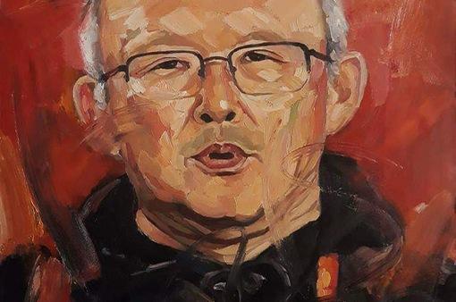 """Đấu giá bức tranh """"Người Thầy Của Tôi"""" vẽ chân dung HLV Park Hang-seo"""