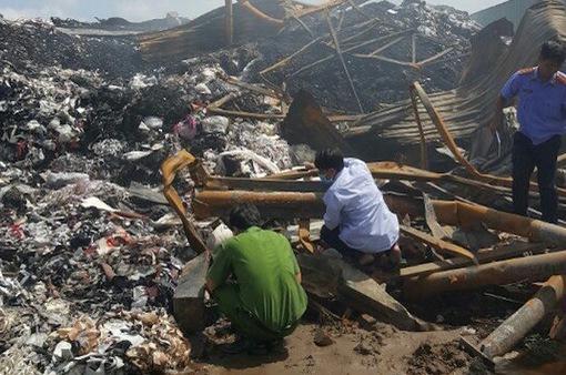 Trà Vinh: Cháy nhà máy xử lý chất thải gây thiệt hại gần 1 tỷ đồng